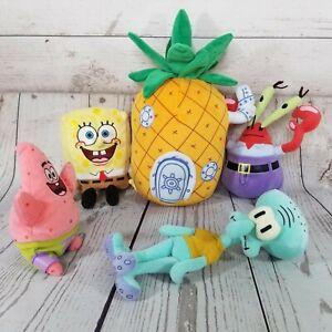 Ty Beanie Babies Lot Of 5 Spongebob Squarepants 2004, 2006 Plush Set *Read Desc*