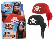 10 x ADULT PIRATE FANCY DRESS HAT BANDANA pirate cap for stag hen party 20cm