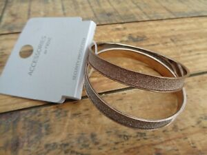 Brand New - Accessories by Next 2 x Gold Silver Glitter Bangles