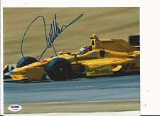 RYAN HUNTER-REAY HAND SIGNED COLOR 2015 INDY CAR 8X10 W/ PSA COA Y60894