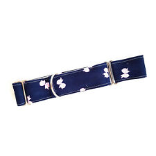 "1.5"" Martingale Dog Collar PINK BOWS ON NAVY BLUE Greyhound Lurcher Large"