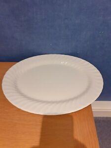 Johnson Bros White Regency Swirl Large Platter approx 35cm by 26.5cm