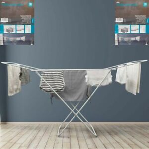 JVL Folding Winged Clothes Airer Dryer Rack Washing Line For Indoor And Outdoor