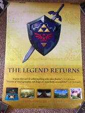 The Legend of Zelda - Ocarina of Time 3DS - Poster Double Sided - VGC