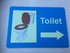 TOILET SIGN IN ACRYLIC/ PERSPEX, SCHOOL, CARE RESIDENTIAL HOME, NURSERY, ARROW