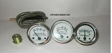 Tractor Oil Pressure, Ammeter, Temperature Gauge Set Replacement fits John Deere