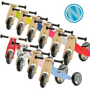 Mini Toddler Wooden Trike Tricycle Bike Blue Pink Yellow Red Green Grey Pastel