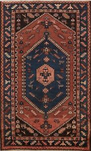 5x7 Vintage Tribal Hand-knotted Geometric Area Rug Classic Oriental Foyer Carpet