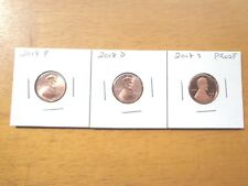 2018 P D S Lincoln Cent Penny Proof 3 Coin Set Lot PDS  IN STOCK