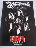 WHITESNAKE SLIDE IT IN 1984 CONCERT PROGRAMME