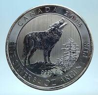2015 CANADA UK Queen Elizabeth II Wolf Howls 1 OZ Genuine Silver $2 Coin i77557