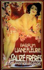 Sauce FRERES parfumeur Paris Tôle Bouclier Bouclier 3d Marquée TIN SIGN 20 X 30 cm