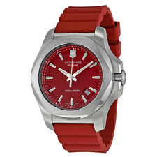 Victorinox I.N.O.X Red Dial Red Rubber Strap Mens Watch 241719.1
