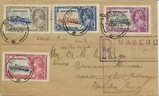 BASUTOLAND 1935 SILVER JUBILEE SET SG11/14 ON REG FDC