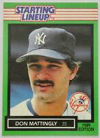 1989 STARTING LINEUP BASEBALL Don Mattingly Card NM New York Yankees Dodgers MLB