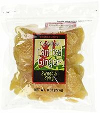 Trader Joe's Crystallized Candied Ginger Sweet and Spicy Dried Fruit Snack Fresh