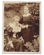 Victorian Ladies in the Garden - Antique Albumen Photograph c1890