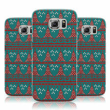TEAL RED CHRISTMAS TREE JUMPER PRINT CASE COVER FOR SAMSUNG GALAXY MOBILE PHONES