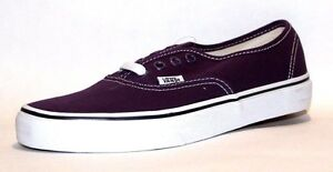 Vans Unisex Authentic Solid Canvas Skateboard Sneakers, Plum Purple/True White