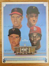 1985 HOF Baseball Yearbook ENOS SLAUGHTER HOYT WILHELM LOU BROCK ARKY VAUGHN