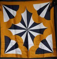 Vintage 1970's Silk Art Deco Style Vera Neumann Scarf (23 x 23)