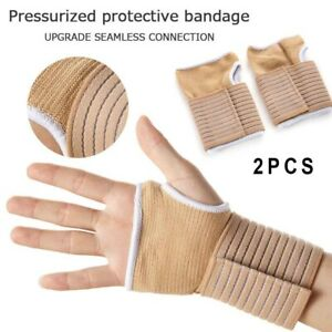 2Pack Carpal Tunnel Wrist Support Bandage Strap Breathable Gym Sprain Injury New