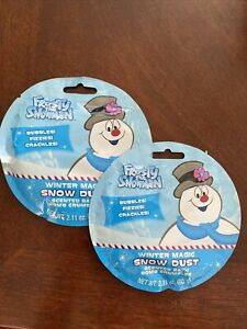 Frosty Snowman Snow Dust Scented Bath Bomb Crumbles 2 Pack