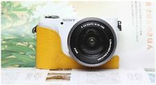 CIESTA Leather Camera Body Case Cover Body Jacket For Sony NEX-3N - Yellow