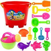 14Pcs Kids Beach Toys Sand Pit Bucket Spade Play Set Children Summer Outdoor