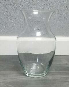 8 Inch Tall Clear Glass Vase