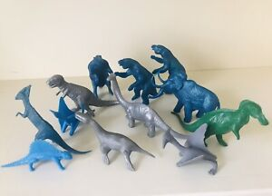 MPC 1960's METALLIC DINOSAURS -VERY GOOD CONDITION-GREAT LOT OF 12- MUST SEE LOT
