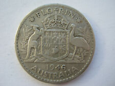 Australia 1946 silver Florin NF