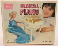 Vintage Sears Roebuck Musical Piano No. 4931156 Toy for Dolls Play House Works!