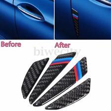 4pcs Carbon Fiber Car Door Anti Scratch Bumper Scuff 3D Stickers Protect For BMW