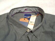 Tommy Bahama Linen Cotton Blend Linen Legend Sport Shirt NWT 3XL $110 Gray
