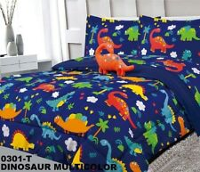 DINOSAURS KIDS BOYS CUTE COMFORTER SET 4 PCS FULL SIZE