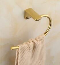 2020New Gold Polished Brass Towel Ring Hand Rack Holder Wall Mounted Bath Toilet
