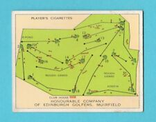 GOLF - PLAYERS - CHAMPIONSHIP GOLF COURSES CARD -  MUIRFIELD  -  1936