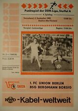Programm 1989/90 Union Berlin - Bergmann Borsig
