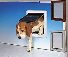 DOG MATE PREMIUM DOG DOOR, PET DOOR SILENT ACTION - MEDIUM - WHITE RRP $195