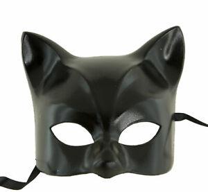 Masque de Venise Chat noir finition luxe Gatto Artisanat Peint à la main 1957