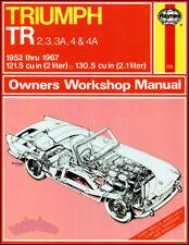 TRIUMPH SHOP MANUAL SERVICE REPAIR BOOK HAYNES OWNERS WORKSHOP TR4 TR3 TR4A TR3A
