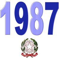 ITALIA Repubblica 1987 Singolo Annata Completa integri MNH ** Tutte le emissioni