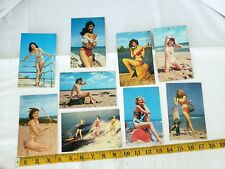 Vintage Postcards Glossy pin up girls