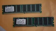 512MB DDR MEMORY RAM PC2700 NON-ECC DIMM 184-PIN 333MHZ (2X256MB Sticks)