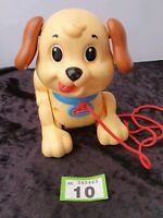 Fisher Price Pull Along Dog Toy Plastic Lil' Snoopy. Preschool baby toddler