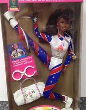 Olympic Gymnast Barbie Doll African American Atlanta 1996 #15124 New NRFB Mattel