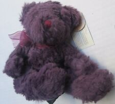 "❤ RUSS purple Teddy Bear Plush Bearberry 4641 NEW Washable 6"" 8"" NWT FREESHIP"