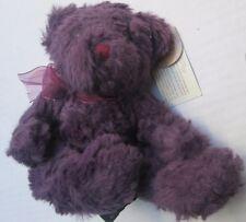 "🐻 RUSS purple Teddy Bear Plush Bearberry 4641 NEW Washable 6"" 8"" NWT FREESHIP"