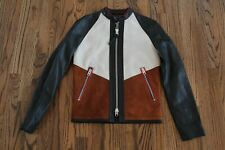 50 $1400 Coach Patch Zip Racer Leather Jacket XXS 86359
